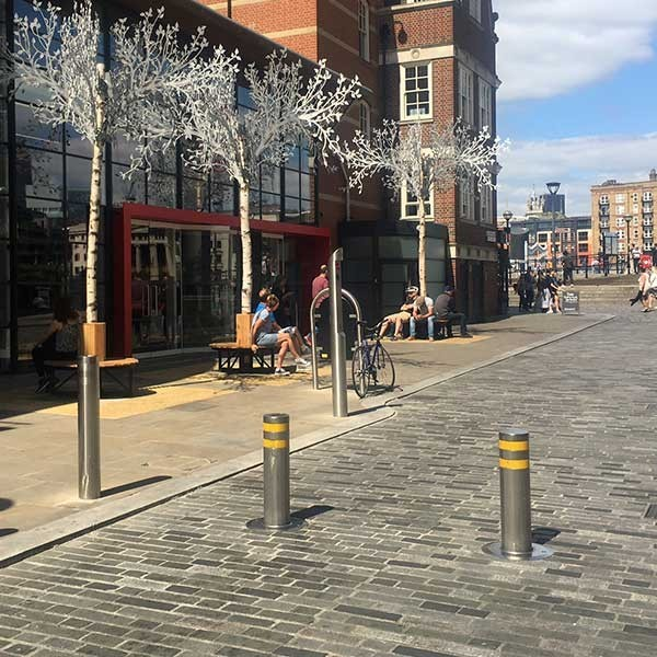 ATG Access VPHD Automatic Bollard in stainless steel