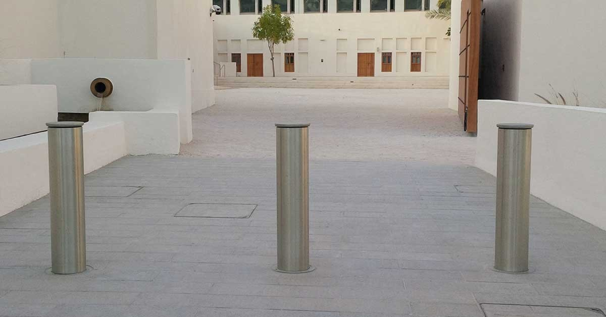 ATG Access crash rated bollards installed in the Heart of Doha, Qatar